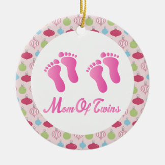 Mom Of Twins Christmas Keepsake Ornament