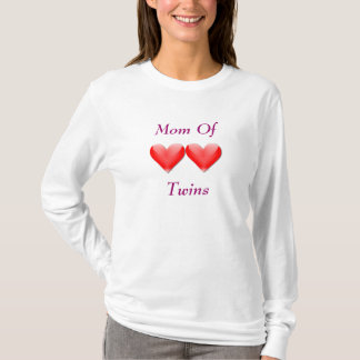 Mom Of Twins Double Hearts Hoodie