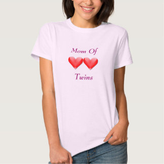 Mom Of Twins Double Hearts Shirt