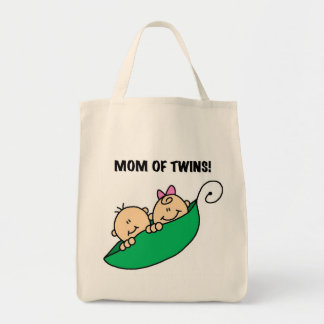 Mom of Twins-Peas in a Pod Tshirts and Gifts Tote Bag