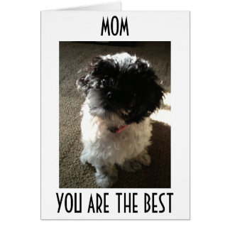 MOM-ONLY THE BEST FOR THE BEST MOM'S BIRTHDAY GREETING CARD