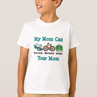 Mom Outswim Outbike Outrun Triathlon Kid Tshirt