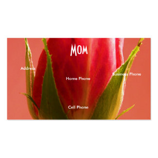 Mom Pink Rose Double-Sided Standard Business Cards (Pack Of 100)