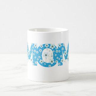 Mom pretty blue flowers mug