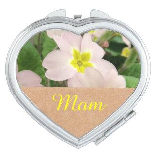 Mom - Pretty Pink Primroses Mom Makeup Mirror