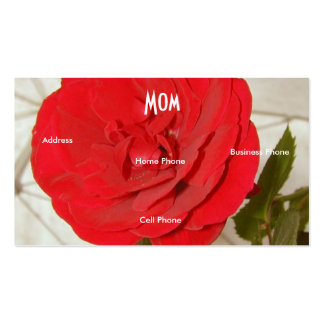 Mom Red Rose Double-Sided Standard Business Cards (Pack Of 100)