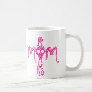 MOM ROCKS BASIC WHITE MUG