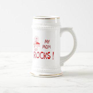 Mom Rocks ! (red) Beer Steins