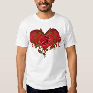 Mom Rose Heart Tees