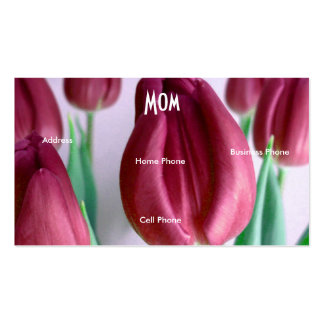 Mom Rosey Tulips Double-Sided Standard Business Cards (Pack Of 100)