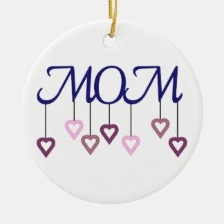 Mom Round Ceramic Decoration