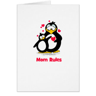 Mom Rules Greeting Cards