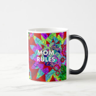 MOM RULES Colorful Floral Mothers Day gifts Morphing Mug