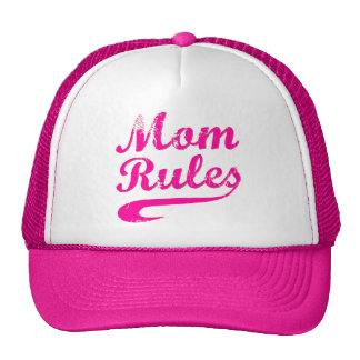 Mom Rules Funny Saying Hat