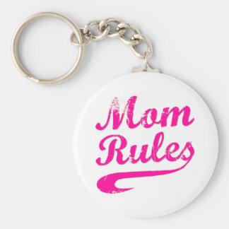 Mom Rules Funny Saying Keychain