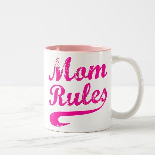 Mom Rules Funny Saying Mug