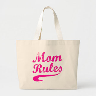 Mom Rules Funny Saying Tote Bags