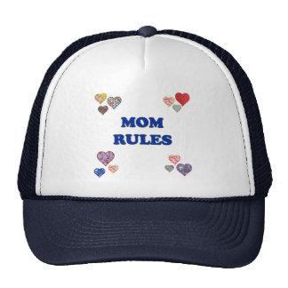 Mom Rules Trucker Hats