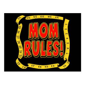 Mom Rules Postcard