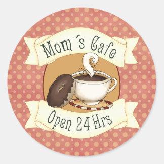 Mom´s Café Classic Round Sticker