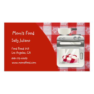 Mom s Food Business Cards