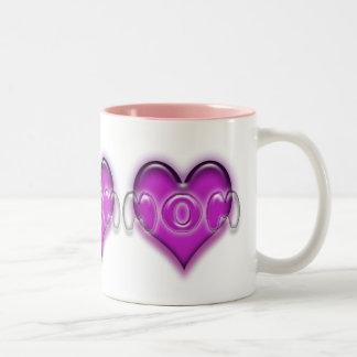 Mom ' s heart Two-Tone mug