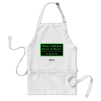Mom s Kitchen Open 24 Hours Personalize Apron