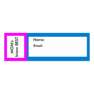 MOM s know Best The MUSEUM Zazzle Business Card Template