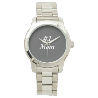 Mom silver watch