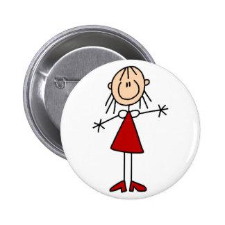 Mom Stick Figure Button