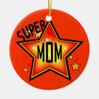 Mom Super Star Mother Christmas Ornament
