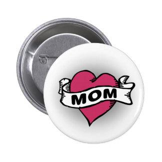Mom Tattoo 6 Cm Round Badge