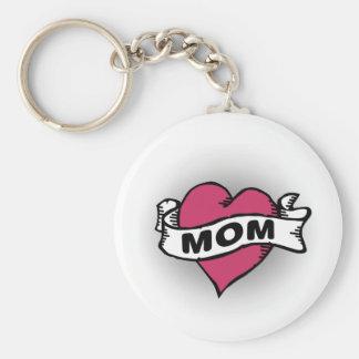 Mom Tattoo Key Chain