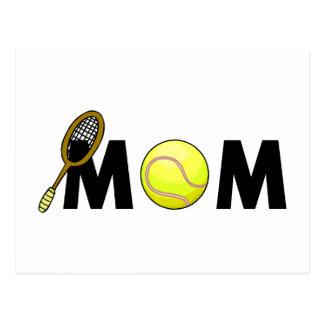 Mom Tennis Postcard