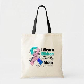 Mom - Thyroid Cancer Ribbon Budget Tote Bag