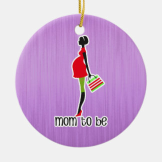 Mom To Be Expectant Mother Personalized Dated Christmas Ornament