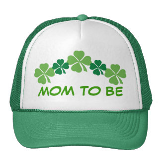Mom To Be Irish St Patricks Four Leaf Clover Hat