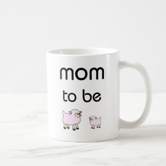 Mom to Be little sheeps design! Coffee Mug