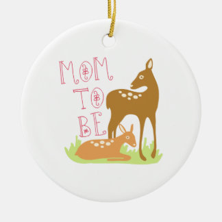 Mom To Be Round Ceramic Decoration