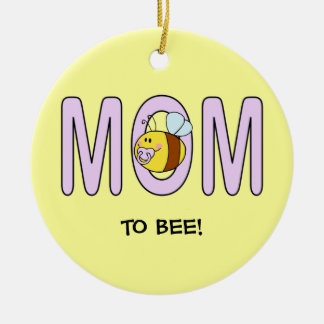 Mom To Bee (customizable) Christmas Ornament