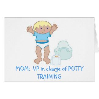 MOM: VP of Potty Training Greeting Card