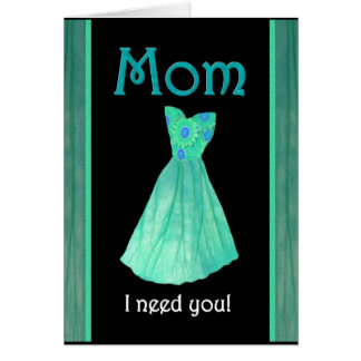 MOM - Walk Me Down the Aisle - Mint Green Gown Card
