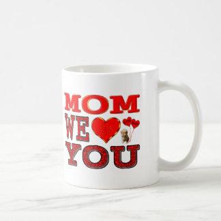 Mom We Love You Basic White Mug