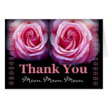 MOM - Wedding Thank You with Pink Roses and Lace