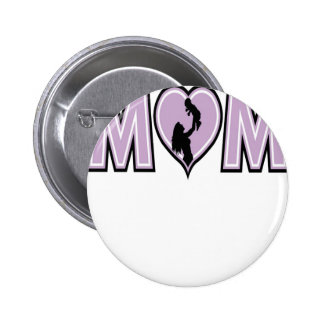Mom with baby 6 cm round badge