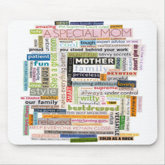 Mom Word Collage Mousepad