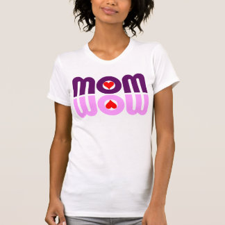 MOM WOW Hearts Reflection Tees