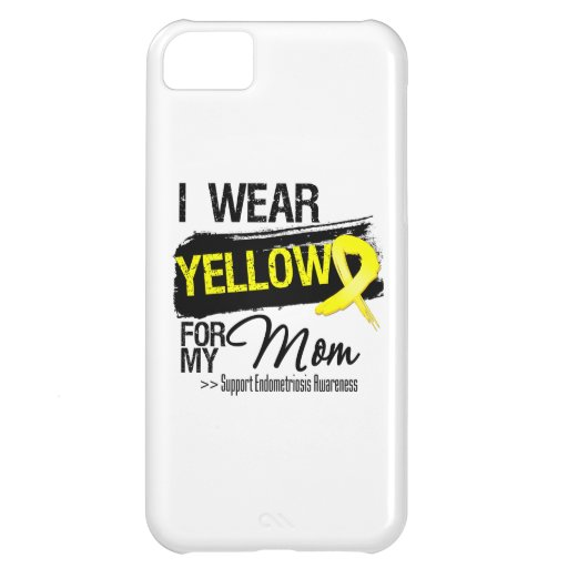 Mom Yellow Ribbon Endometriosis iPhone 5C Case