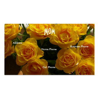 Mom Yellow Roses Double-Sided Standard Business Cards (Pack Of 100)