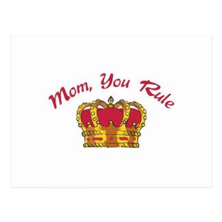 MOM YOU RULE POSTCARD